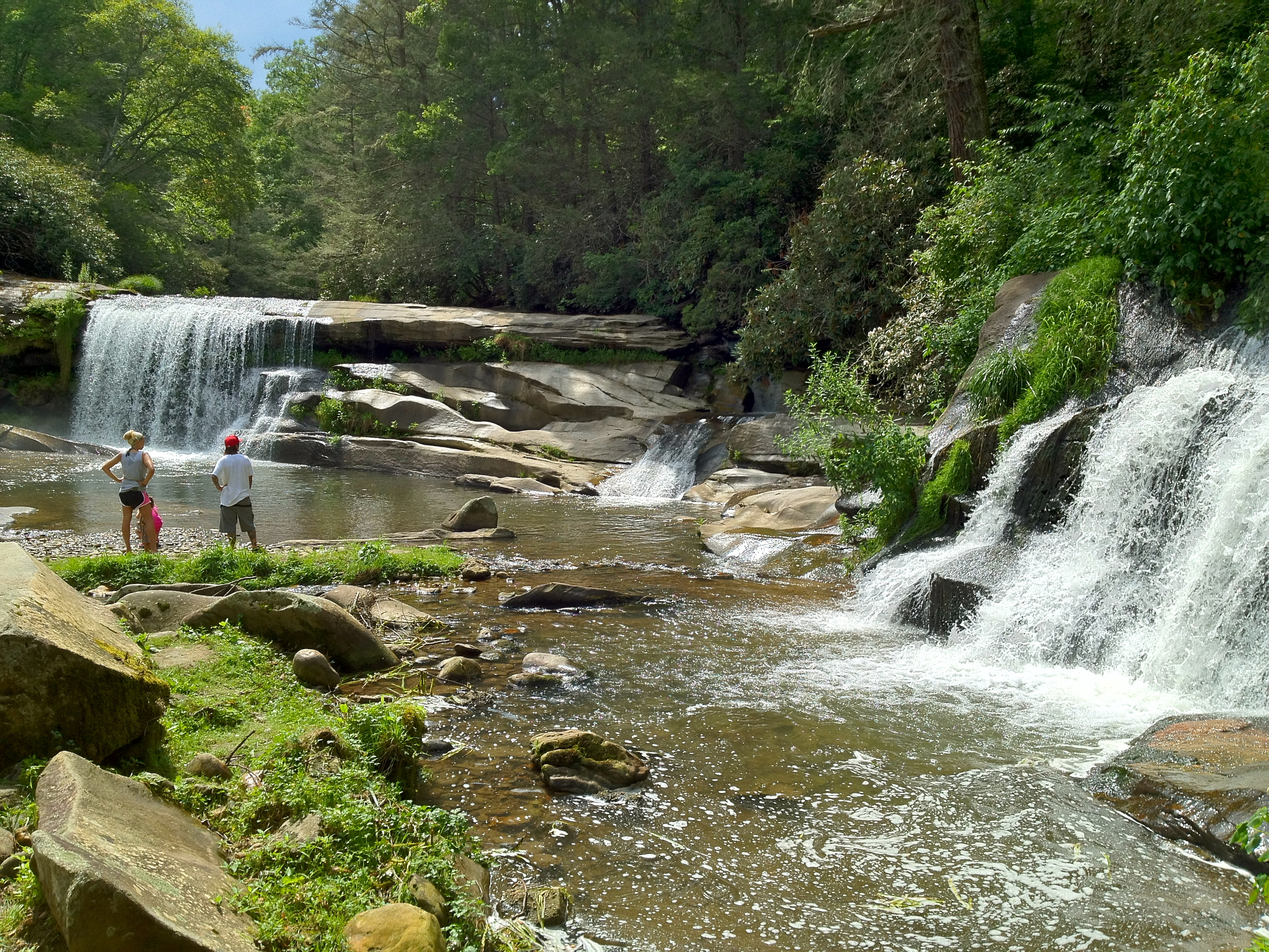 Living waters waterfalls hiker for Shoal creek