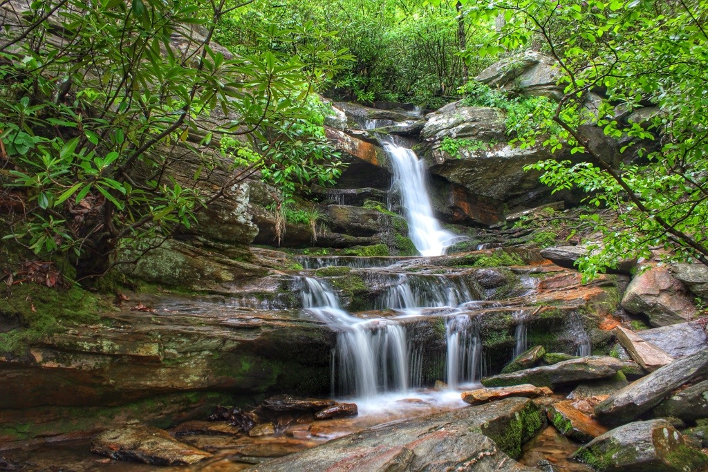 "Hanging Rock State Park's  Waterfalls and the ""Wall of Water"""