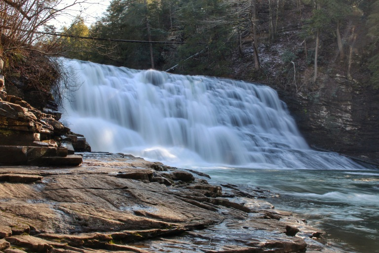 Cane Creek Cascades - 45 ft beautiful waterfall just outside the nature center