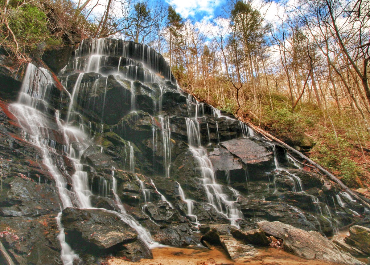 Yellow Branch Falls – 2014's First and Last Waterfall