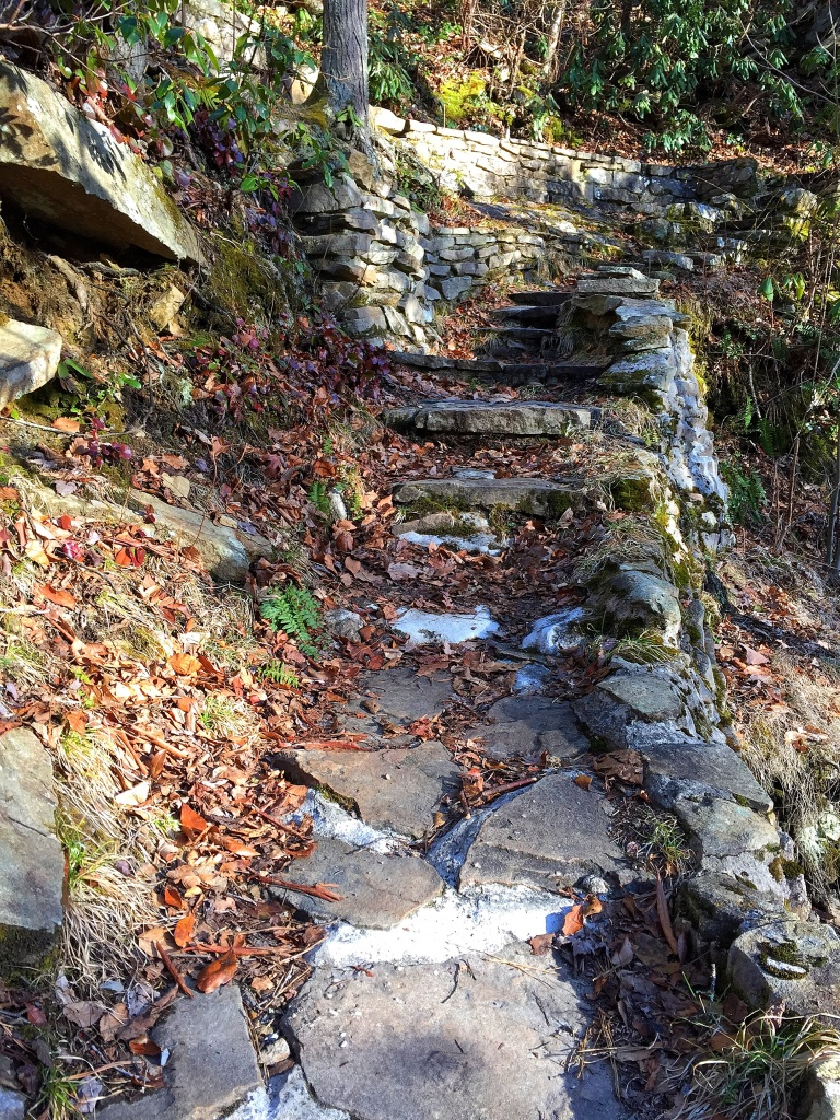 Stairway to the Base of Upper Little Stony Falls