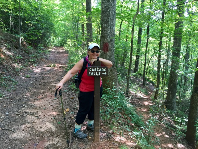 Mary Gavlik show us the way to Cascade Falls