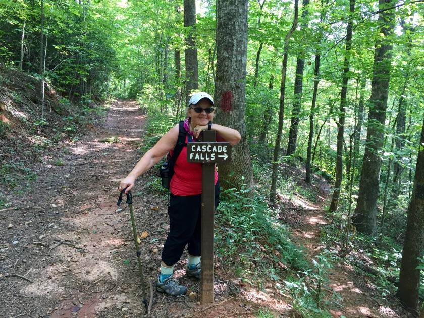 Mary Gavlik show us the way to Cascade Falls