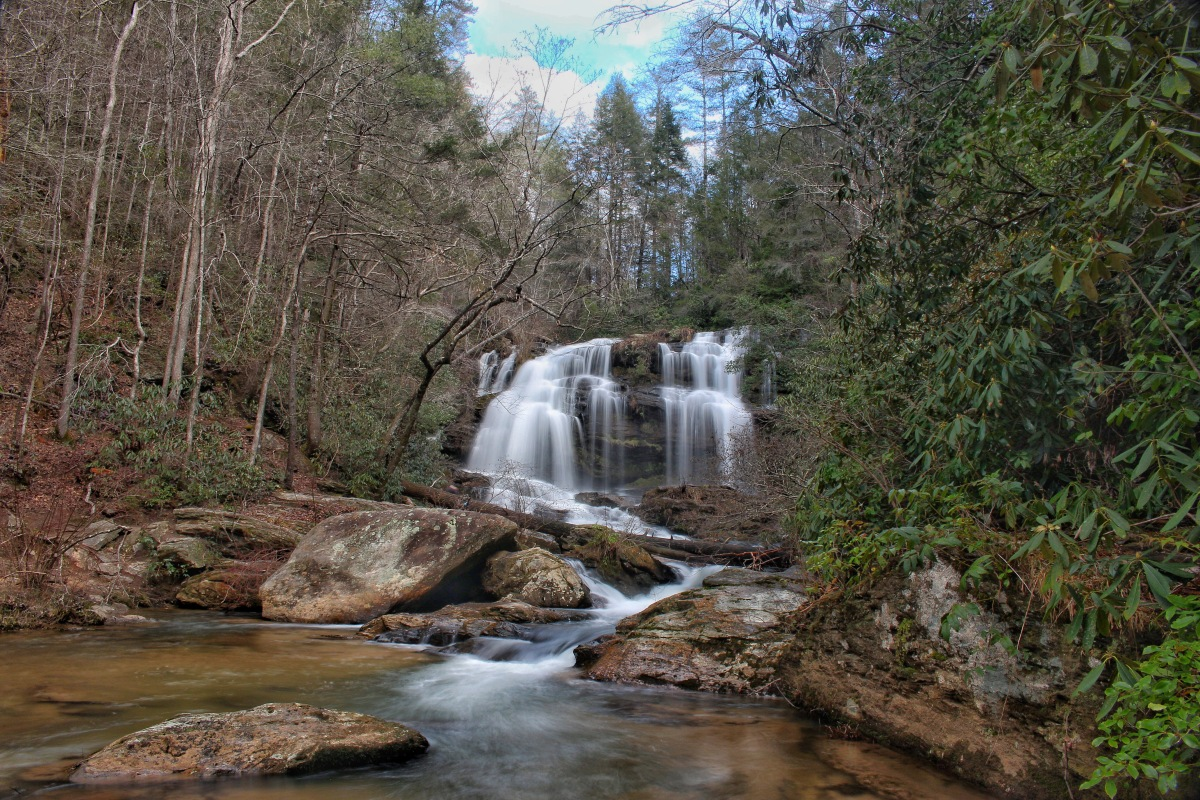 Long Creek Falls Along the Chattooga