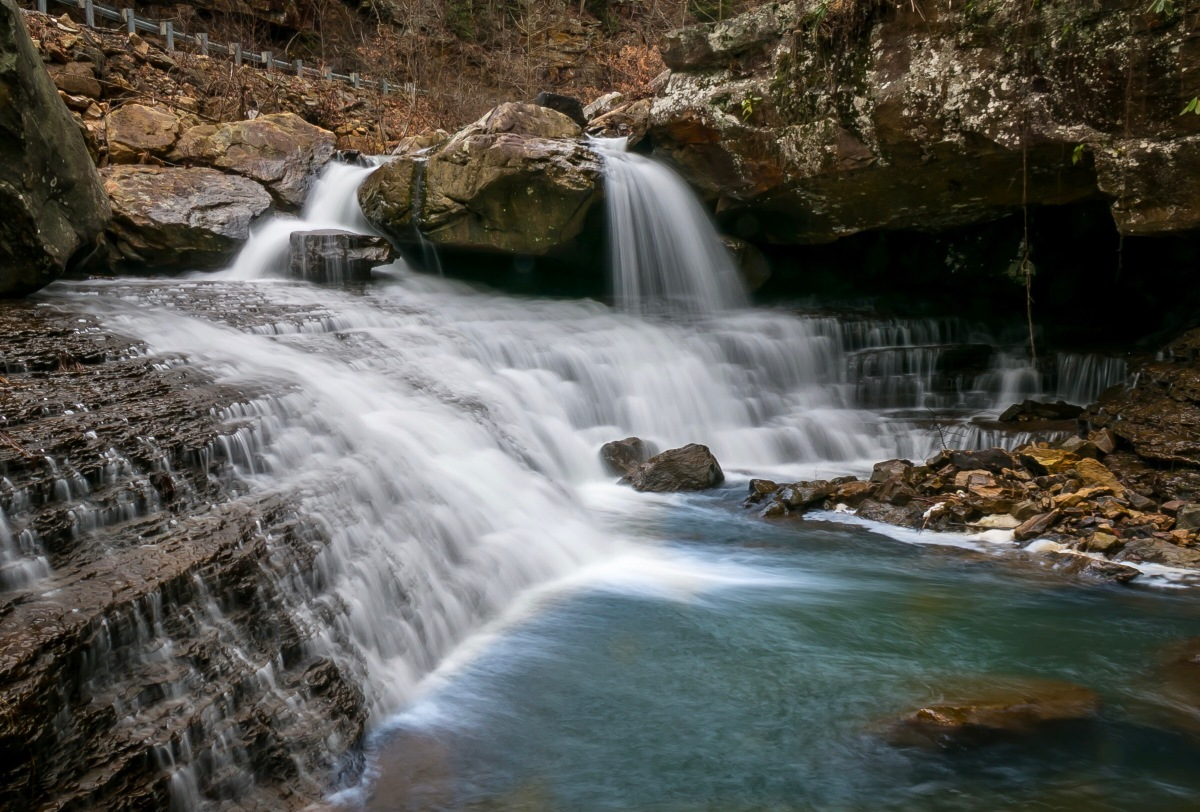 The Waterfalls of Laurel Creek along West Virginia's Scenic Ride Into The New River Gorge
